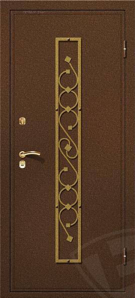 двери металлические из бронзы и золота
