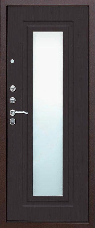 входная дверь венге с зеркалом